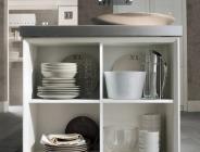 Dettaglio cucina classica bianca