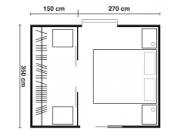 Cabina armadio rettangolare