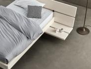 letto singolo con comodino integrato