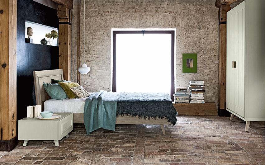 Jugendzimmer mit einzelbett maestrale aus holz for Jugendzimmer 60er