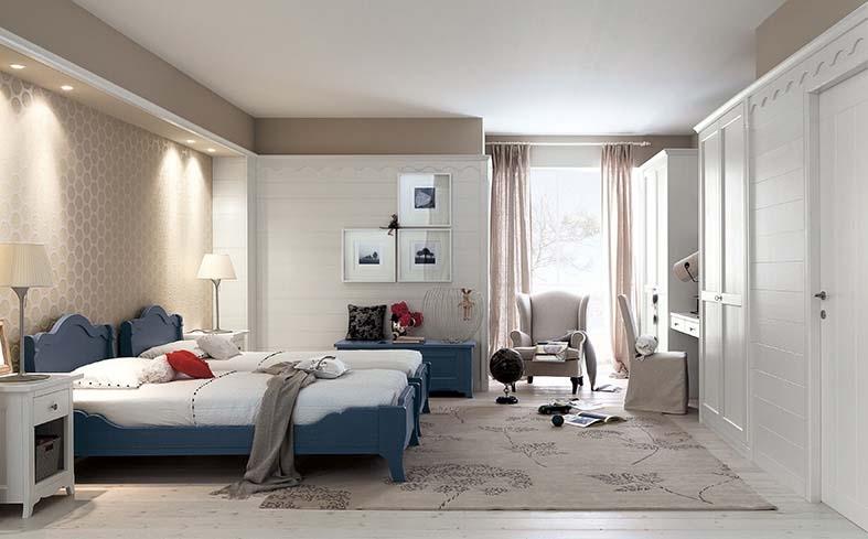Camera Da Letto Blu Cobalto : Camera di hotel in legno