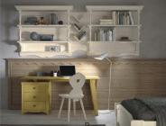 libreria pensile e scrivania