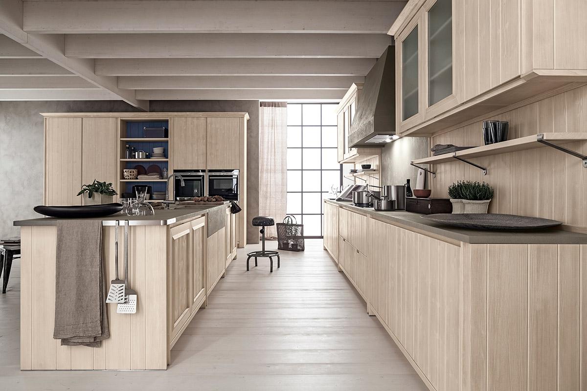 Cucina con isola maestrale for Isola cucina legno