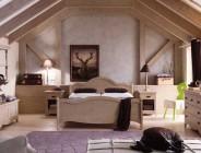 Camera da letto in legno rustico