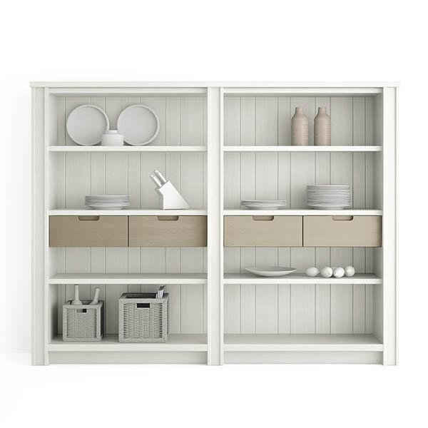 Librerie pensili e mensole in vero legno scandola mobili - Mensole da bagno ...