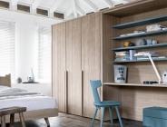 Libreria con scrivania per camera