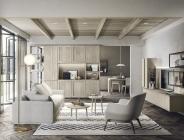 Composizione living in legno massello