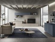 Ambiente living in stile rustico