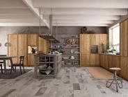 cucina in legno vecchio