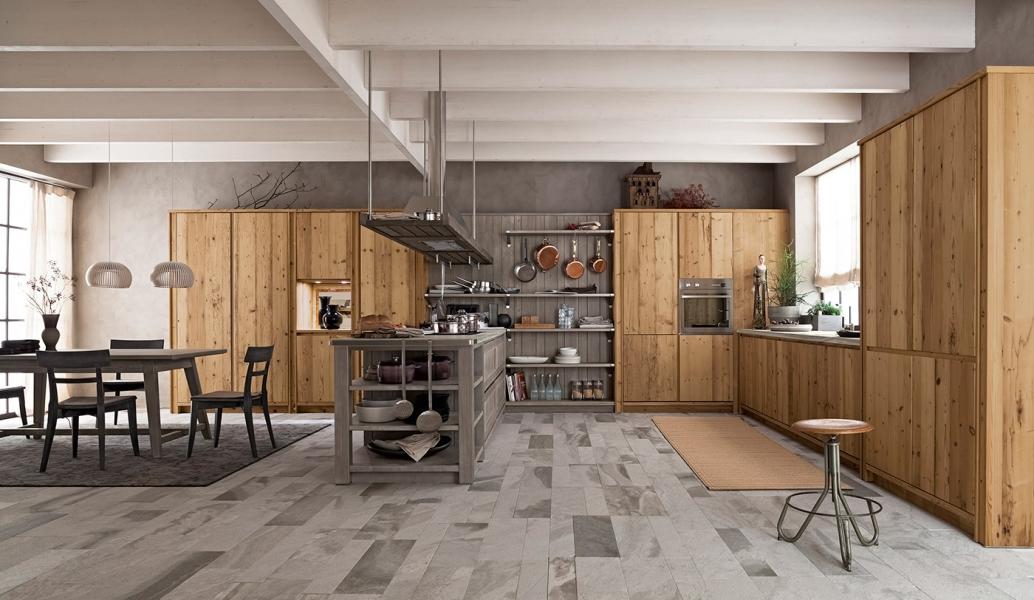 arredo maestrale: legno massello di gusto contemporaneo - Cucine Tirolesi
