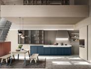Cucina Maestrale in legno blu