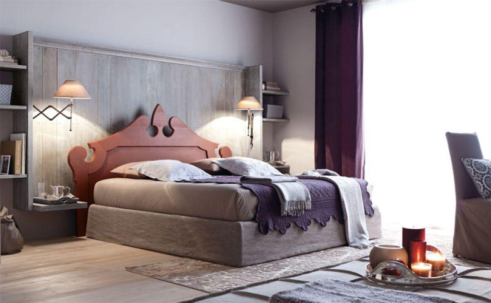 Camera matrimoniale country royal di scandola mobili for Camera matrimoniale in legno
