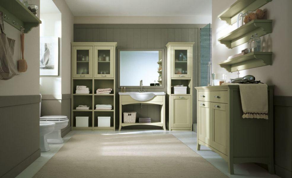 Bagno arredato in legno arcanda di scandola mobili - Mobili in legno massello per bagno ...