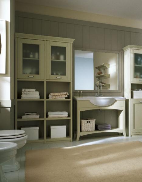 Bagno arredato in legno arcanda di scandola mobili for Scandola mobili