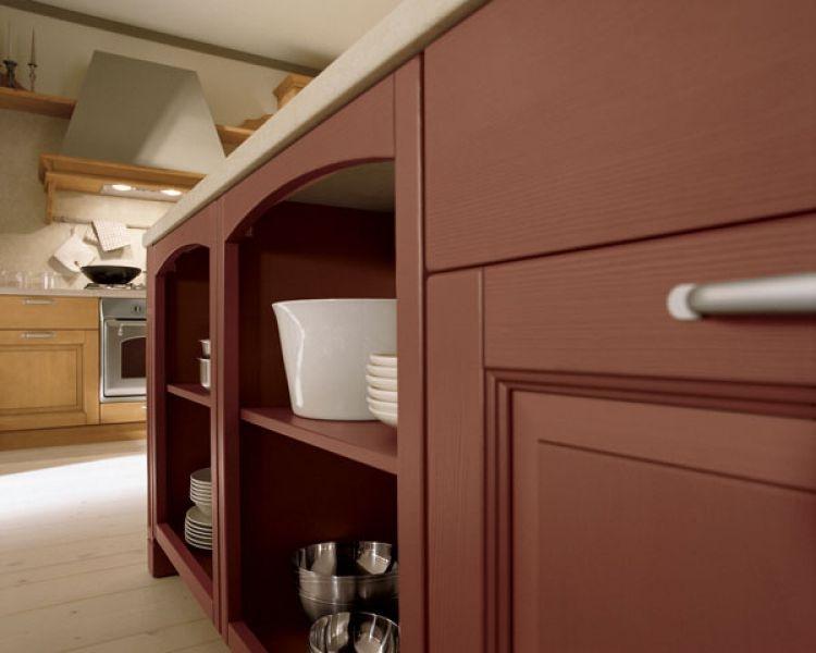 Credenza Con Pensile : Cucina classica in legno di abete scandola mobili