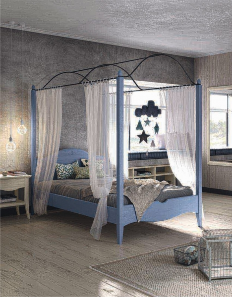 Letto A Baldacchino 1 Piazza.Classic Children S Bedroom With Canopy Bed