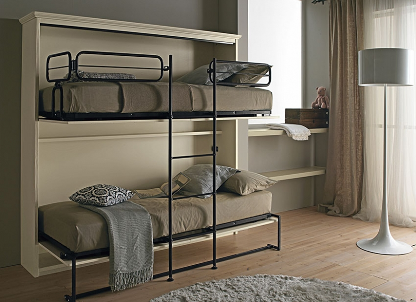 Doppio Letto A Castello.Cabinet Beds Made Of Genuine Solid Wood
