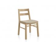 sedia in legno e imbottita