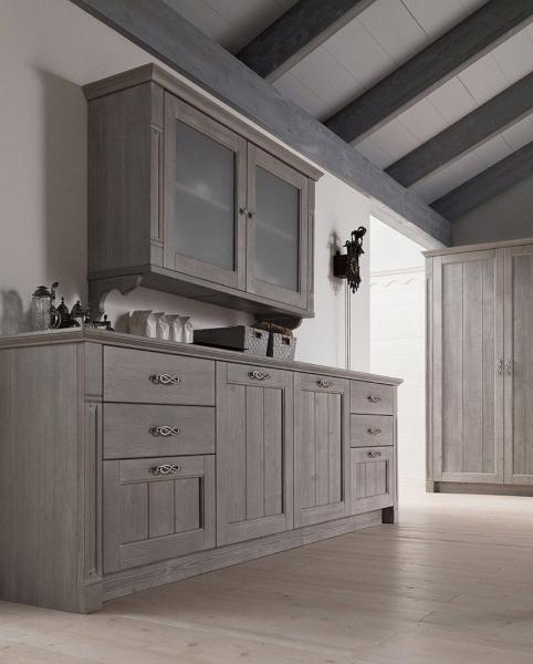 Cucina lineare in abete massiccio scandola mobili - Mobili in abete massiccio ...