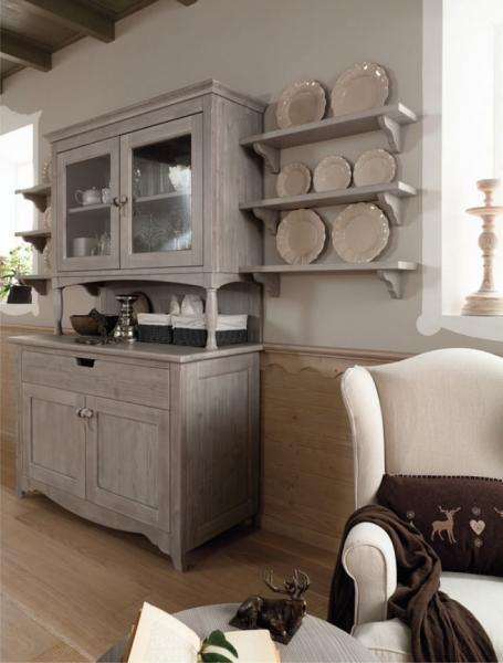 Sala da pranzo con arredamento rustico Mobili per la sala