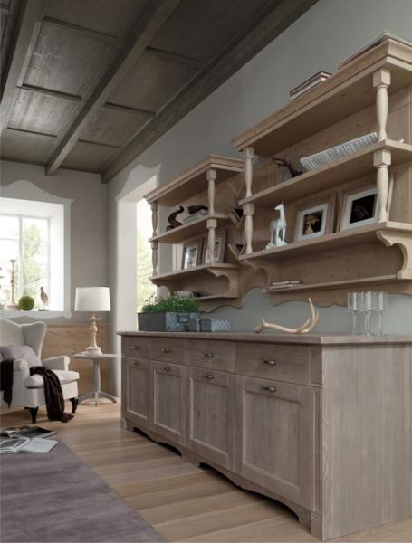 Sala da pranzo con arredamento rustico