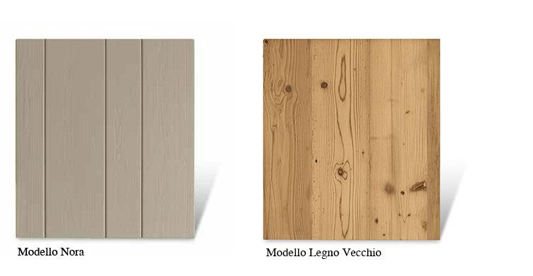 Ante in legno massello per mobili Scandola