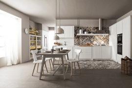 Cucina contemporanea bianca Maestrale M04