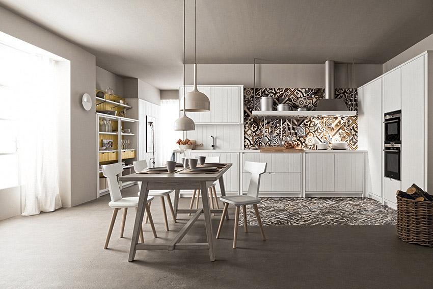 Cucina bianca di design: cucine in massello moderne