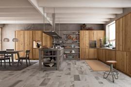 Cucina in legno vecchio Maestrale M03