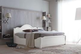 Camera Tabià con letto contenitore in legno