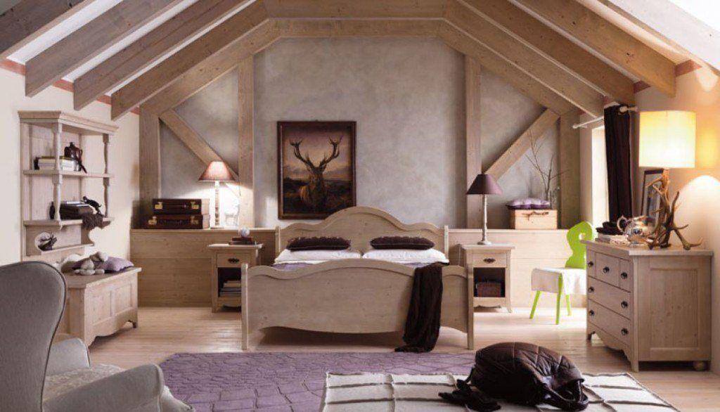 camera in stile rustico