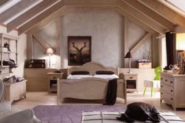 Camera matrimoniale in stile rustico