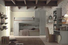 Classic children's bedroom with bunk beds