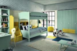 Двухъярусная кровать с горкой для детей