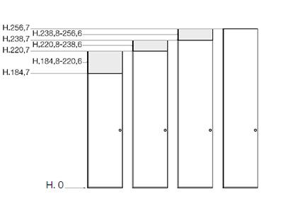 Misure Armadio 4 Ante Standard.Misure Degli Armadi In Legno Scandola Mobili