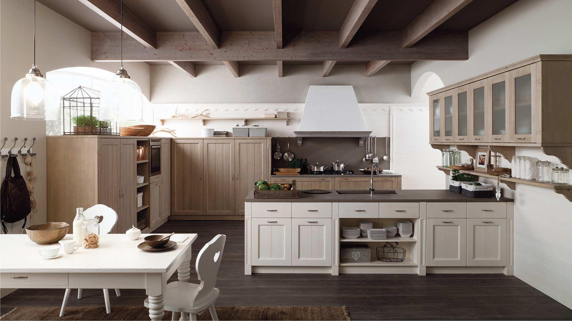 Scandola mobili arredamento in vero legno - Cucine artigianali in legno massello ...