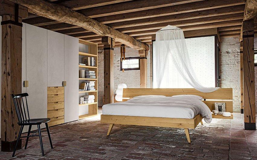 Camera matrimoniale in legno termocotto e ecocemento