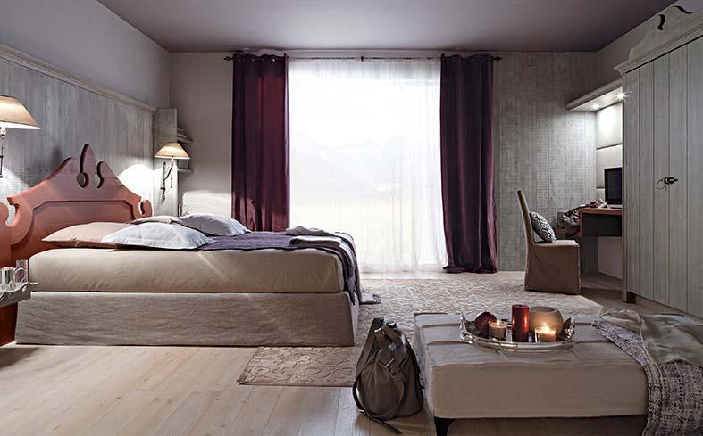 Camera da letto in legno per albergo