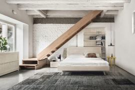Maestrale M01 master bedroom in solid wood