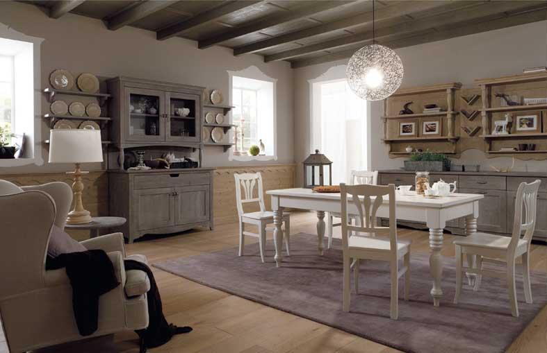 soggiorno in legno massello classico
