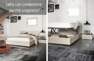 Il letto con contenitore nella camera