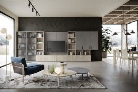 mobile soggiorno classico in legno M03