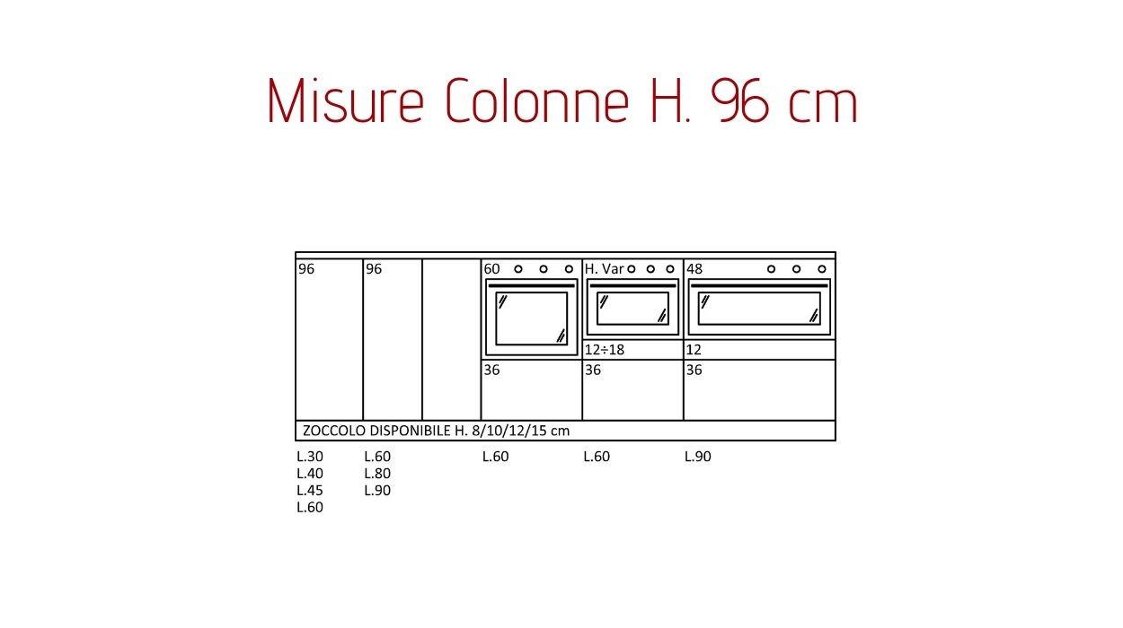 Misure Standard Piano Cottura Cucina cucine componibili scandola.tutte le misure.