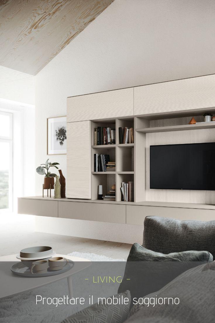 Arredare Mensole Soggiorno mobile soggiorno: come arredare il living