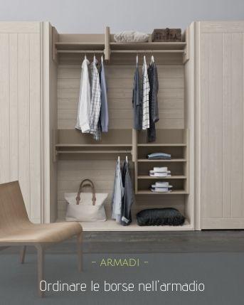 Organizzare le borse nell'armadio