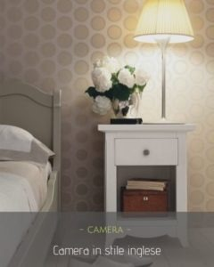 Camera da letto stile inglese