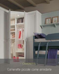 Camerette piccole: arredare in pochi metri quadri