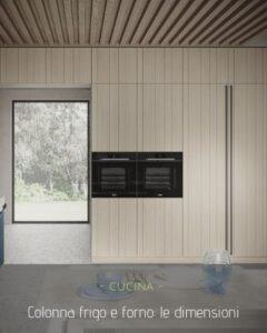 Colonna frigo e forno: le dimensioni