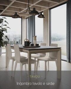 Ingombro tavolo e sedie: tutte le misure importanti