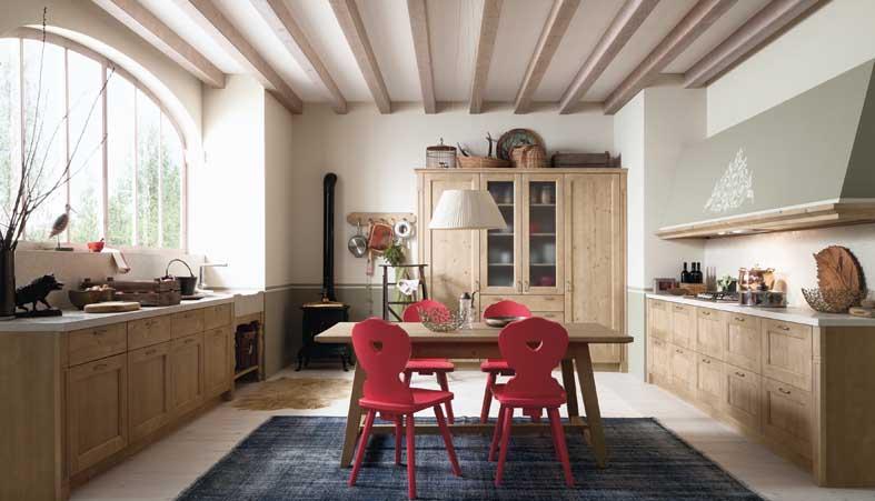 Cucina per montagna stile rustico